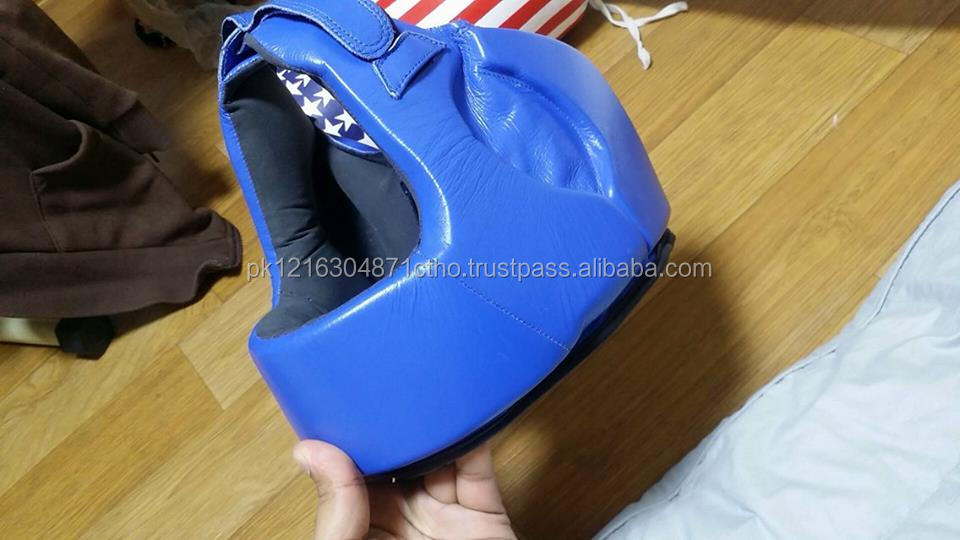 Boxing Artificial Leather Head Guard By HAWK EYE CO.