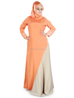 ORANGE AND GREY SIMPLE ABAYA