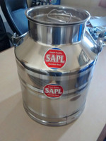 STAINLESS STEEL MILK CAN 10 LITER CAPACITY