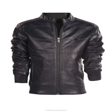 hot sal boys PU leather jacket for boys slim faux motorcycle leather jacket with pockets