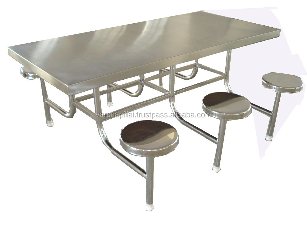 Stainless Steel Canteen Table & Chair