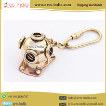 Brass Divers Diving Helmet Keyring Keychain Nautical Gift Manufacturer