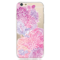 Printed Mandala Patterned with Pink Watercolour Design Soft cover TPU case