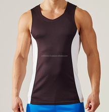 poly/cotton Breathable mens singlet stretch fabric men tank top high quality slim fit men Tank Top