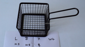 Mesh chrome serving basket