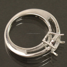 Wholesale Suppliers Oval 925 Sterling Silver Engagement Ring Semi Mount