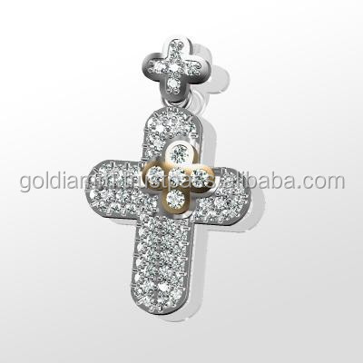 Diamonds chain cross pendant New desin december gift
