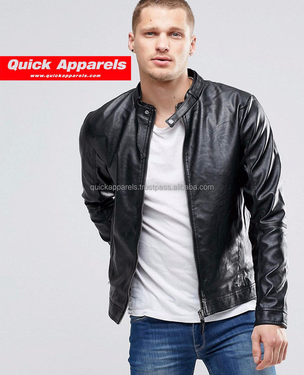 Leather jackets for men china good quality artificial wholesale pu leather prices