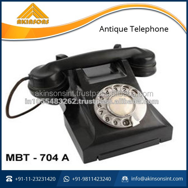 Antique Collectible Black Telephone