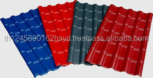 3 layers 1050*660mm ASA synthetic resin spanish pvc plastic roof tile for sales