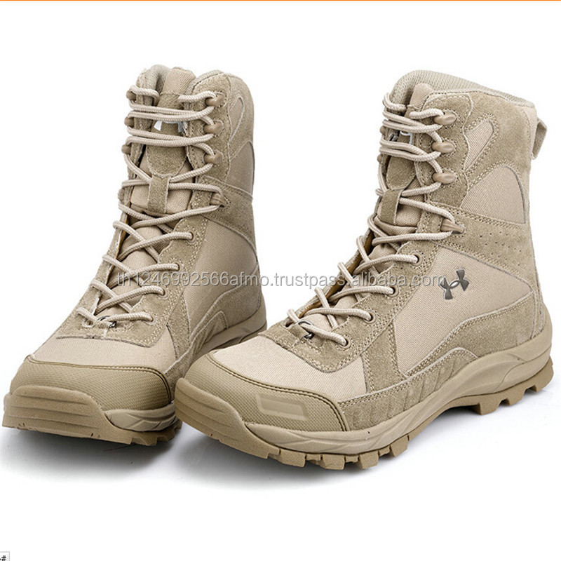 Military Army Tactical steel toe safety good qualty work shoes