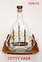 CUTTY SARK SHIP IN XO BOTTLE - HANDMADE SHIP MODEL, SPECIAL GIFT
