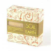 NATURAL HANDMADE SOAP- SAFFRON & HONEY