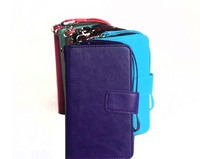 9 Card Slots Crazy Horse Texture Flip Leather Case For Iphone Samsung