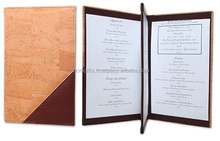 100 moq menu leather cover buy online now sale pu leather side protectors hotel menu cover