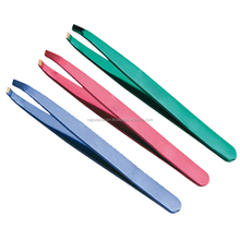Stainless Steel Eyelash Eyebrow Tweezers for Beauty Salon