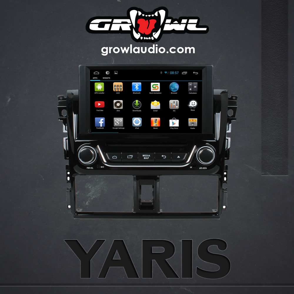 "OEM ANDROID HEAD UNIT 8"" CAPACITIVE TOUCH FIT FOR TOYOTA YARIS 2014"