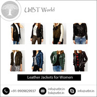 Hot Sale Custom Black Leather Jacket with Plain Collar for Women