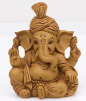 Resin Ganesha Statue Hand Carved Hindu God Lord Ganesh Idol Elephant Sculpture