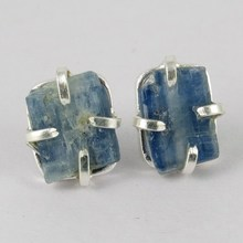 Modern Design Kyanite 925 Sterling Silver Studs Earring, Gemstone Silver Jewellery, Fashion Silver Jewellery