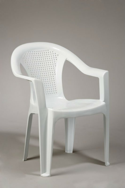 high back plastic arm chair