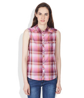 Women women plaid shirt new design ladies cotton/polyester casual/formal tops