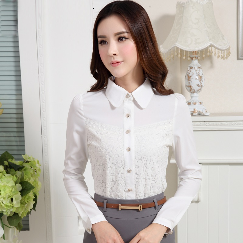 latest design women's slim fit dress shirt for business manufacture