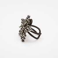 Crystal Flower Ring Strong Idea With Shape Attractive Magnificent
