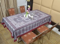 Indian Cotton Table Cloth Hand Maroon Block Printed Dinning Table Cloth Vintage Wall Hanging Throw Bed Sheet Cover TC20