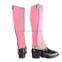 TWO TONE AMARA HALF CHAPS fun colours children horse riding gaiters kids By Riaz Jamal Intel