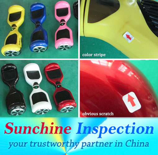 Balance car quality control/Third party inspection agent in China, Vitenam