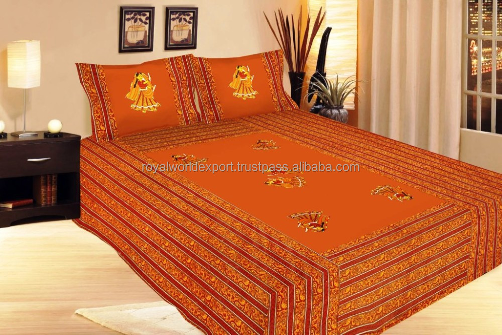 indian Tree of Life Cotton Bed Sheet Artisan Tapestry Decor bedsheet pure 100% code use in home and hotel USA UK based