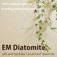 Various colors of EM Diatomaceous Earth for wall decoration