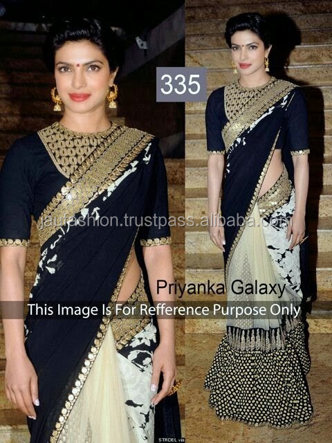 Latest online Surat Fancy Party Wear Stylish Bollywood Designer Replica net Saree / Sari / Shari