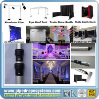 aluminum telescopic pipe and drape wedding backdrop drape and pipe rental