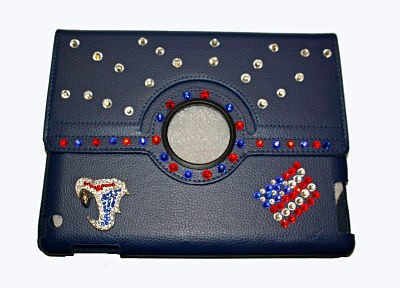 LUXO 3D DIAMANTE JEWELED TABLET CASE PARA TABLET 2,3, 4