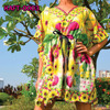 Party Beachwear/Party Ladies African Dashiki kaftan Tunic Maternity Hippie Boho Cocktail Dress S-XL Plus Sizes