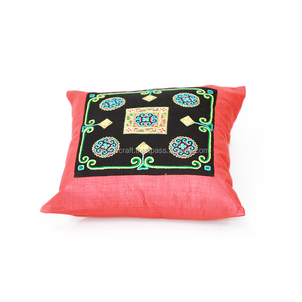 Ethnic brocade pillow cover, fabric pillow case, handmade souvernir and gift 100% made in Vietnam