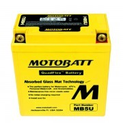 MOTOBATT AGM MOTOCYCLE BATTERY MB5U 12V 7AH