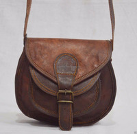 Handmade Real leather leather shoulder bag