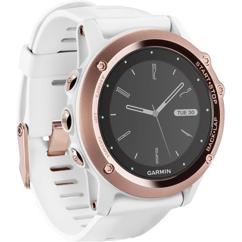 Low Price fenix 3 Sapphire Multisport Training GPS Watch (Rose Gold with White Band)