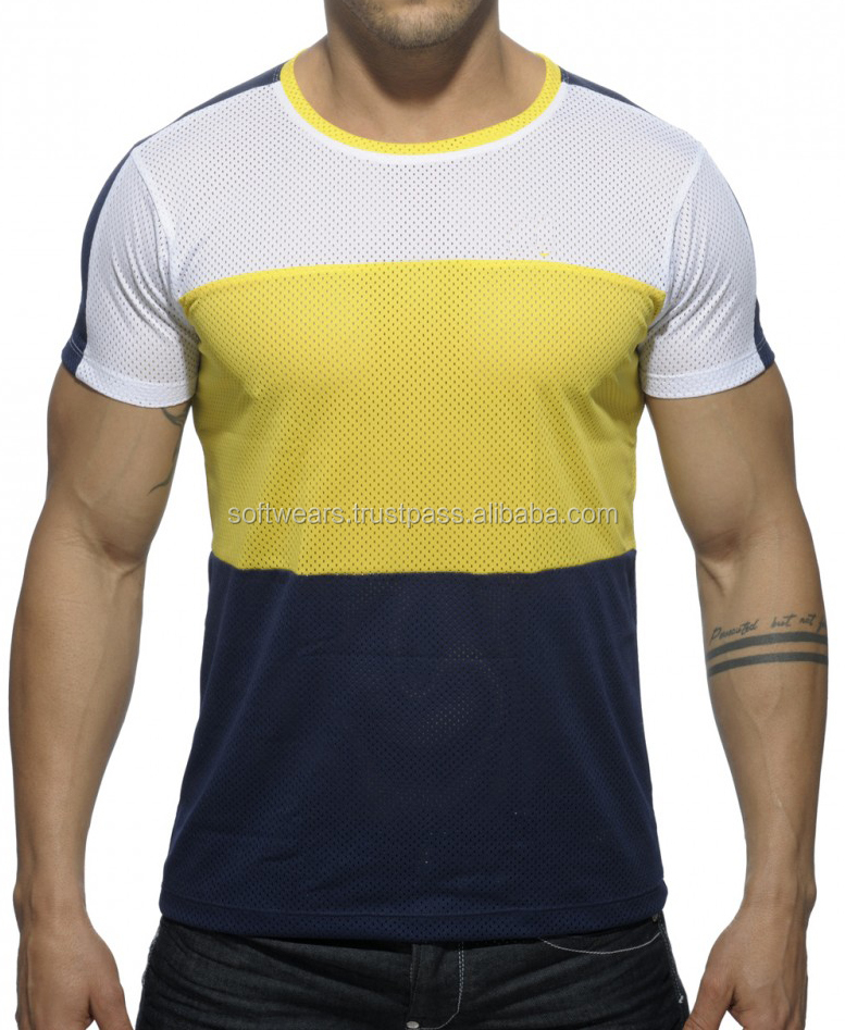 Original polyester mesh bodybuilders T-shirts ,t-shirt Gents Dress