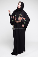 BLACK ABAYA WITH MACHINE WORK DUBAI STYLE
