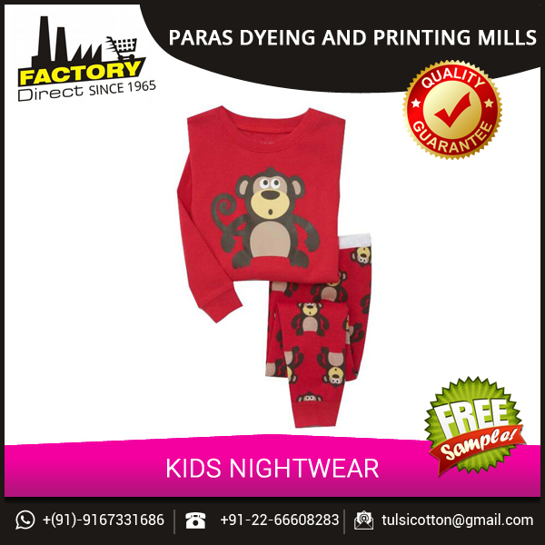 Kids Cotton Sleep Wear in Various Sizes and Patterns from Mozak Fashions