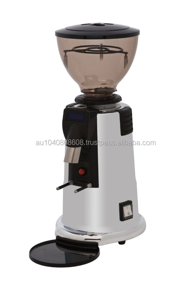 MACAP M4 Digital Grind On Demand Chrome Coffee Grinder