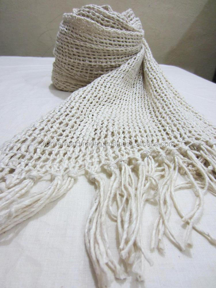 pure silk handmade blank silk scarves with fringes in size 30*180 cm suitable for dyeing by crafters