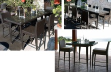 LCOD 147 & 302 - Outdoor Bar Table & Bar Stool Sets