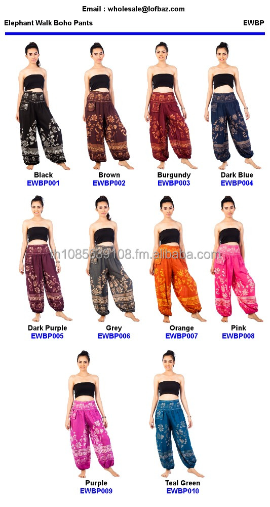 Elephants Walk - Aladdin Trousers Alibaba Hippie Festival Boho Trouser Pants