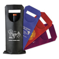 Single Bottle Wine Tote Bag - features simplistic sleeve-like design with a large front die-cut window.