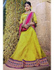 Embroidered Bridal Saree Indian Costume Brocade Net Lehanga woman Fashion Sari